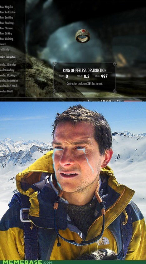 bear grylls,destruction,pee,runes