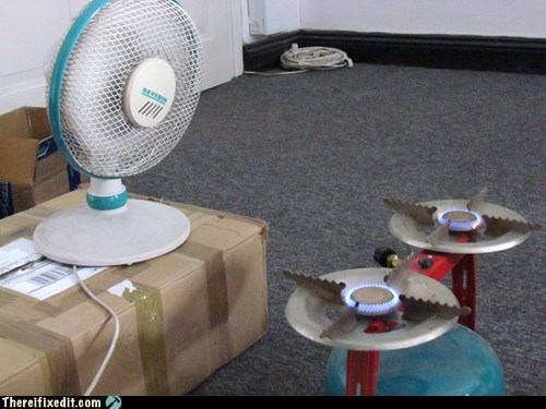 dangerous fan heater safety first