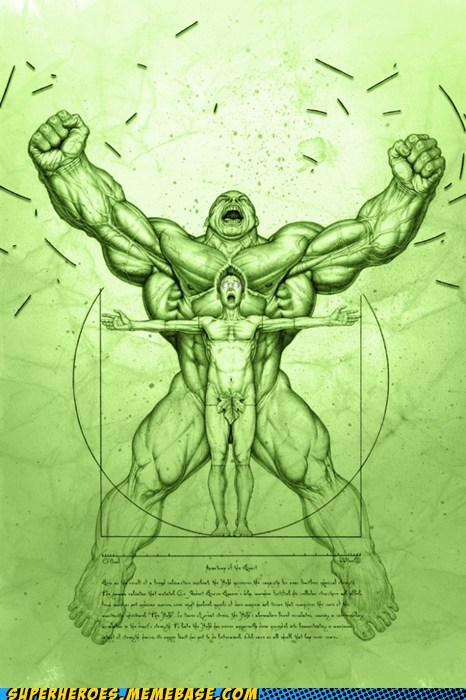 anatomy Awesome Art bruce banner crazy hulk - 5768413184