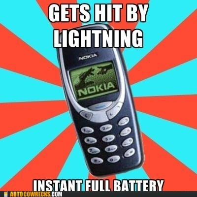 indestructible nokia,lightning,meme,nokia