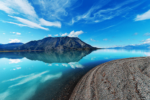 arctic Canada clouds getaways Hall of Fame kluane lake lake north america water Yukon - 5768660992