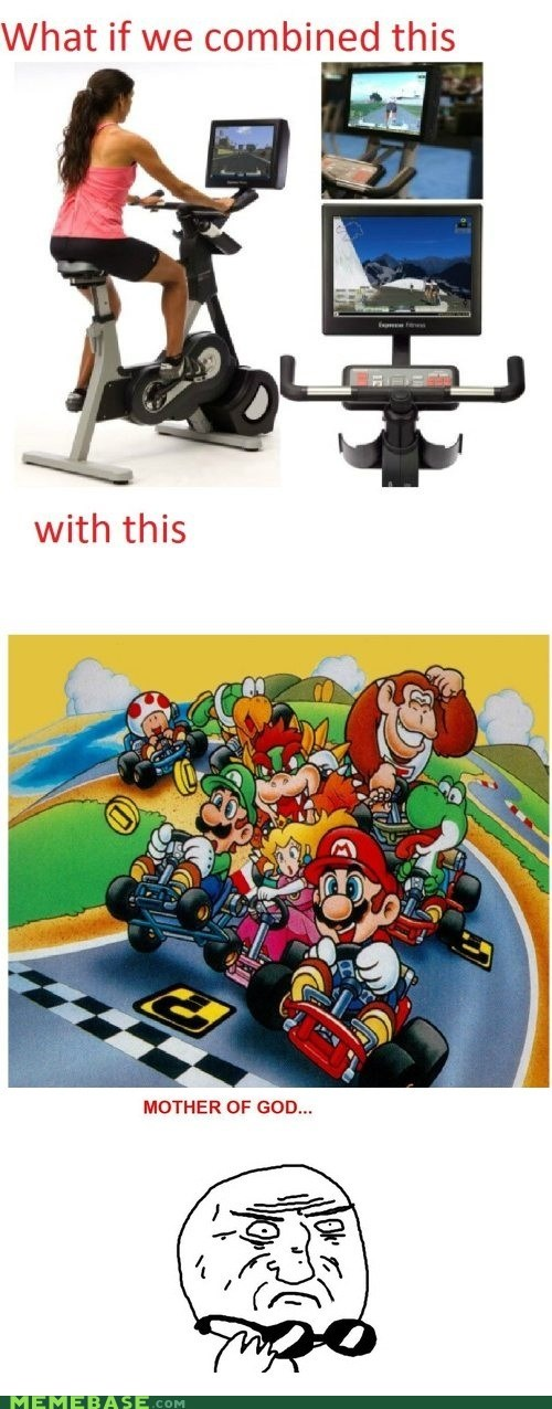 exercise mariokart mother of god Rage Comics video games - 5768699392