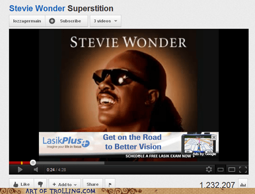 blind stevie vision wonder youtube