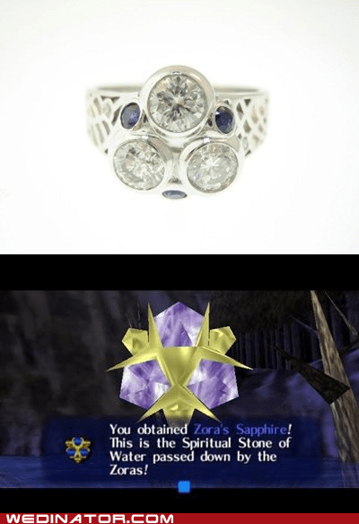 engagement rings funny wedding photos geek video games zelda zoras-sapphire