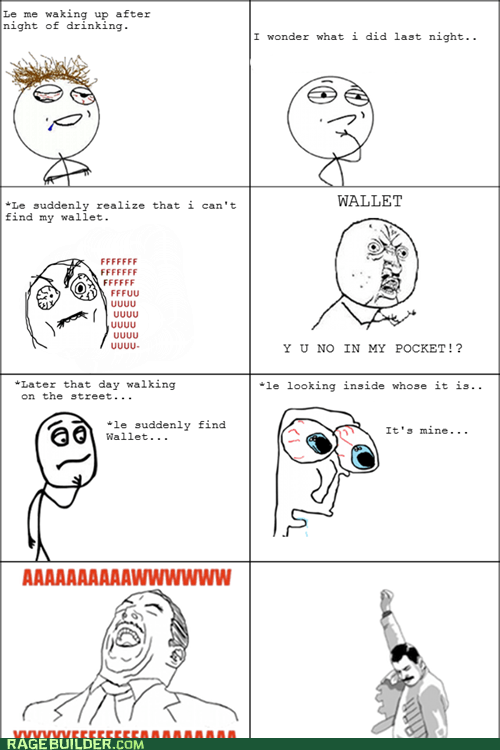 lost,Rage Comics,wallet,Y U No Guy
