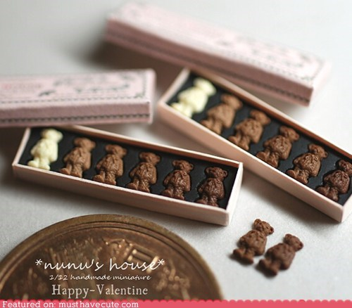 bears chocolate miniature nunus-house squee Valentines day - 5769084160