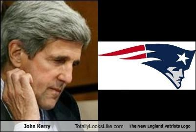 John Kerry Totally Looks Like The New England Patriots Logo
