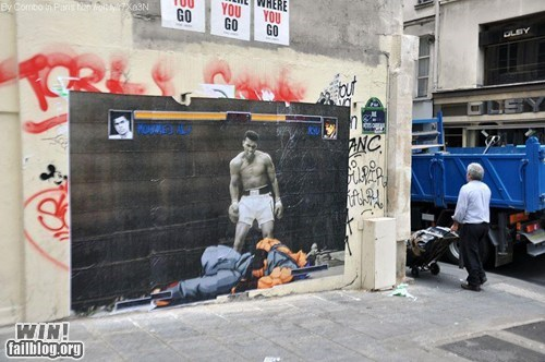 clever combo graffiti hacked irl Muhammad Ali ryu Street Art Street fighter video games
