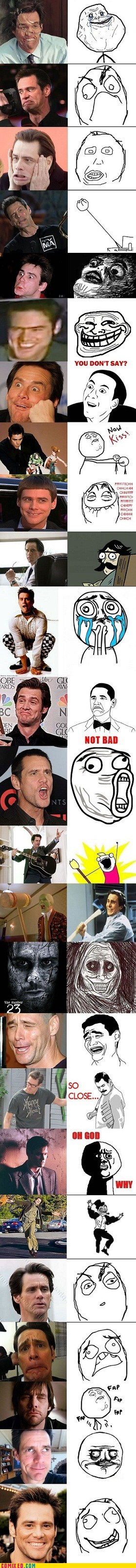 best of week,career,celeb,jim carrey,many faces,rage faces,the internets