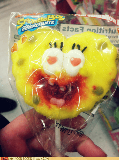 candy face love mouth murder pop SpongeBob SquarePants