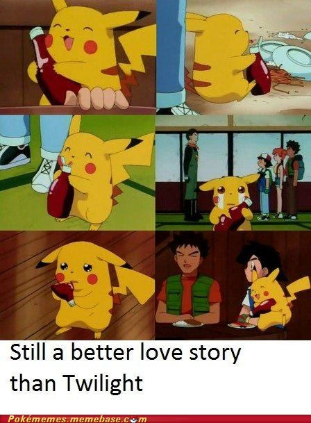 anime best of week better love story than twilight ketchup Memes pikachu Pokémemes twilight - 5769232384