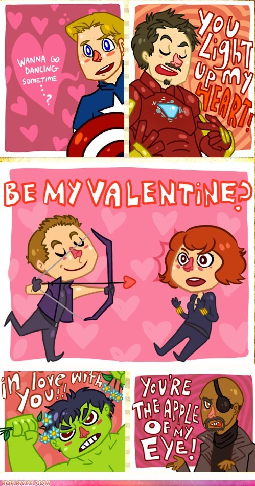 art,funny,Hall of Fame,holiday,Movie,The Avengers,Valentines day