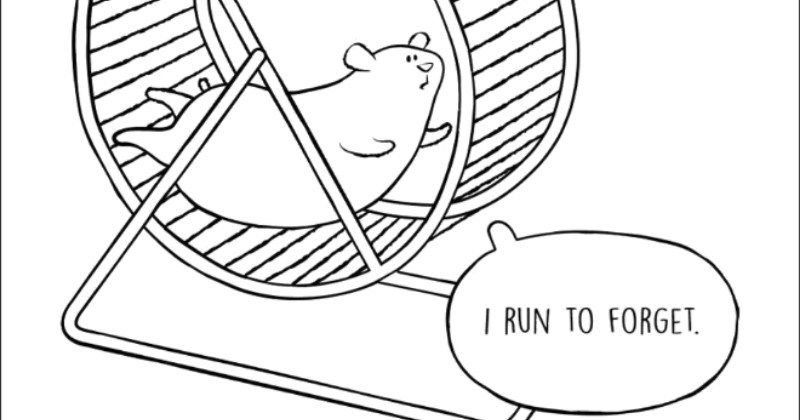 simply drawn animal webcomics about sad thoughts that are true