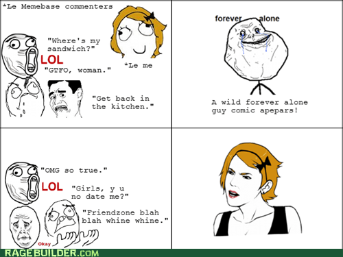 comments,forever alone,memebase,Rage Comics,women