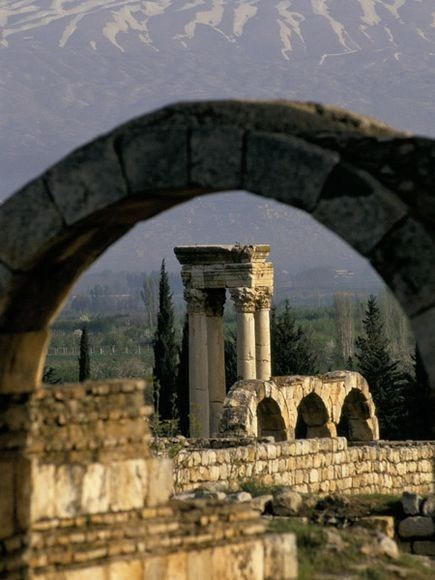 ancient ruins,anjar,asia,getaways,lebanon,middle east,soutwest asia