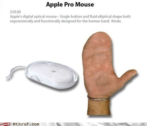 apple products designed for hands human hand mitten hands