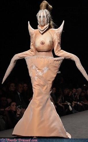 breast,cyclops,haute couture,runway,walkway