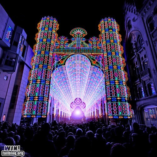architecture art church installation LED lights pretty colors - 5769808384