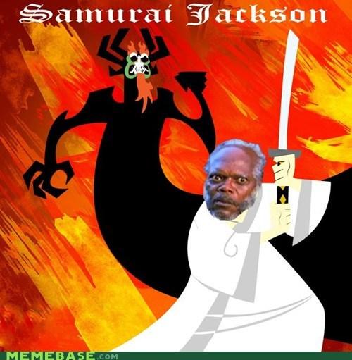 aku cartoons Memes Samuel L Jackson samurai jack - 5769817344