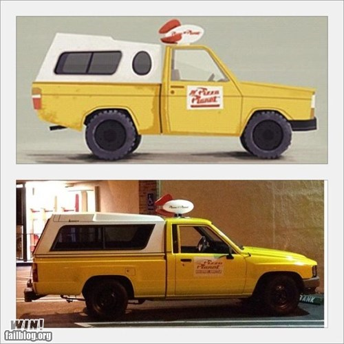 car cartoons disney DIY modification nerdgasm pixar toy story truck - 5769849600