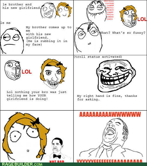 aww yeah not bad Rage Comics relationships troll - 5769857536