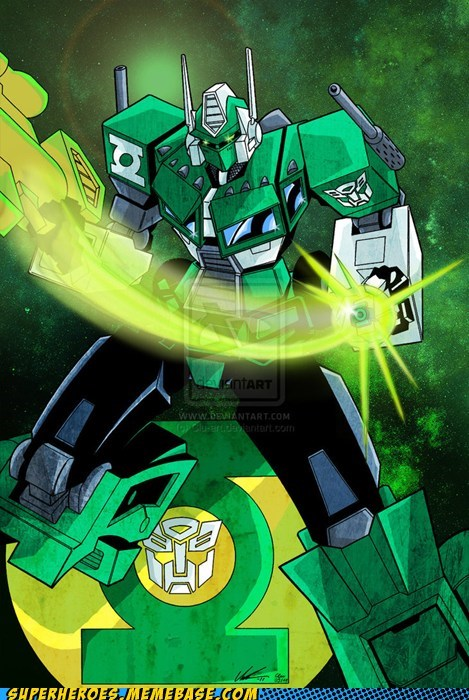 Awesome Art Green lantern optimus prime transformers - 5770002688