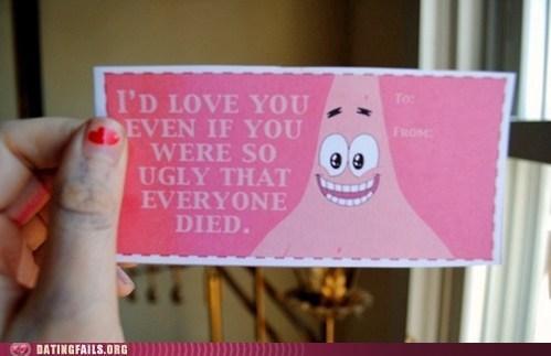 dead patrick SpongeBob SquarePants valentine Valentines day - 5770005504