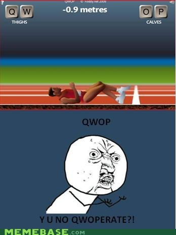 cooperation,QWOP,video games,Y U No Guy