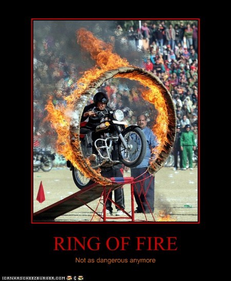 RING OF FIRE Not as dangerous anymore