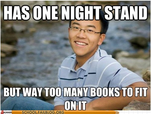 books,one night stand,problems,pun,School of FAIL,straight-as