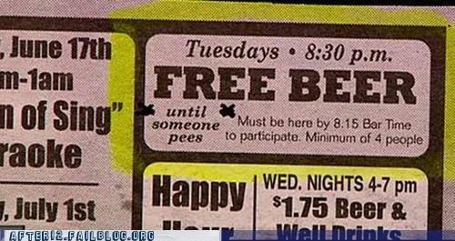 Ad,beer,drinking,free beer,peeing