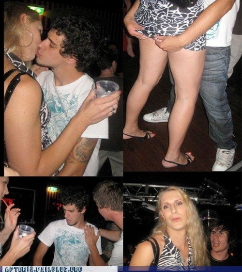 after 12 club dancing dude looks like a lady makeout surprise transvestite - 5770296320