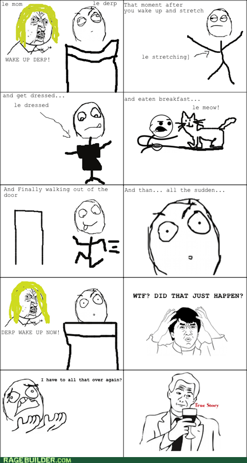 dreaming,Jackie Chan,Rage Comics,true story,waking up,wtf