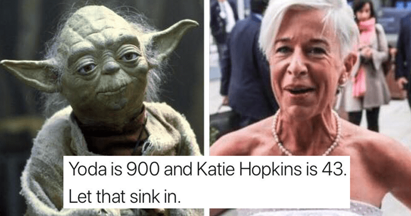 Funny roast of katie hopkins after dissing meghan markle.