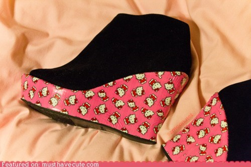 accessories hello kitty pink shoes wedges - 5771301888