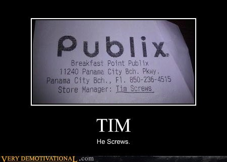 hilarious name publix receipt tim - 5771372288