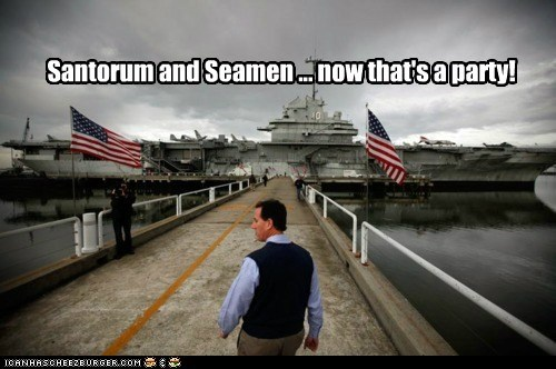 Santorum and Seamen ... now that's a party!