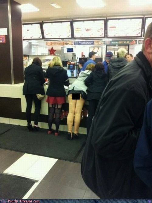 buns,butt,dress,fast food