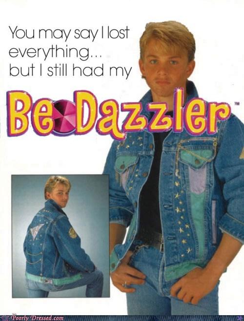 80s bedazzled denim jean jackets - 5773149952