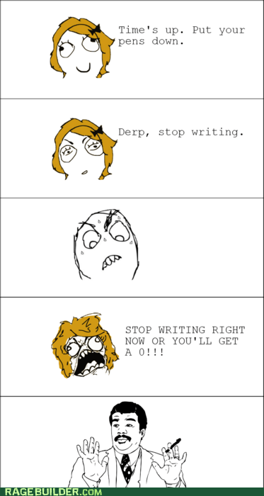 Rage Comics test truancy story watch out guys