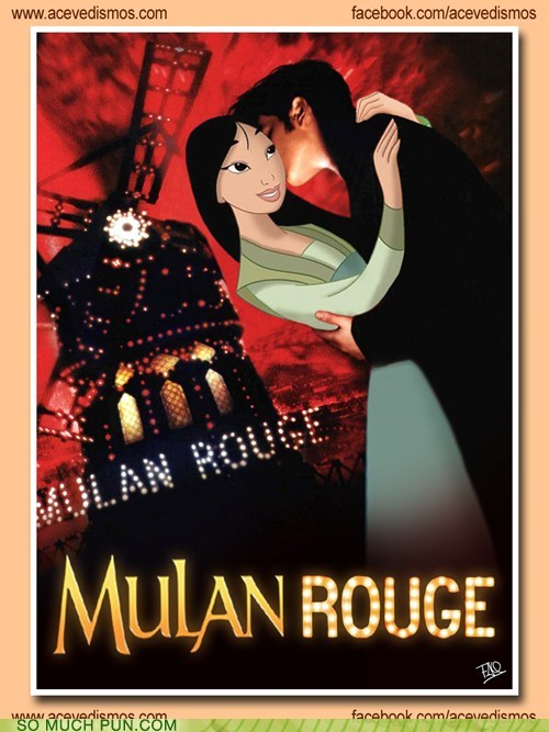 disney,double meaning,homophone,juxtaposition,literalism,moulin rouge,Movie,movies,mulan,musical