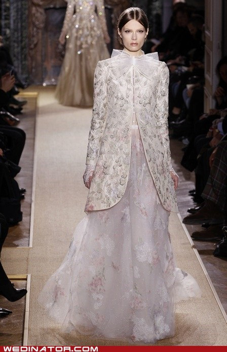 bridal couture,bridal fashion,coat,funny wedding photos,valentino,wedding couture,wedding dress