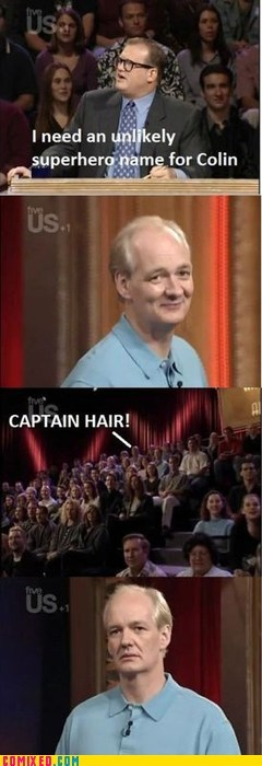 bald joke,colin mochrie,drew carey,TV,unlikely,whose line is it anyway