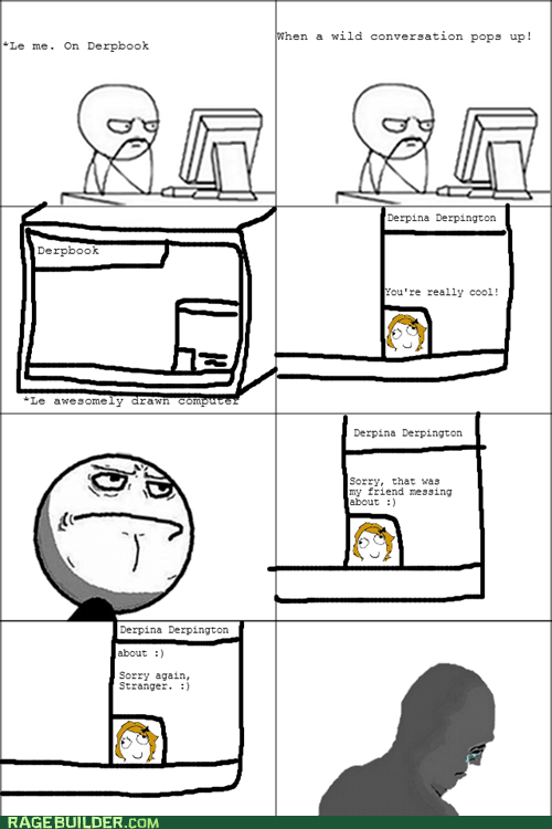 chat,facebook,Okay,Rage Comics,stranger