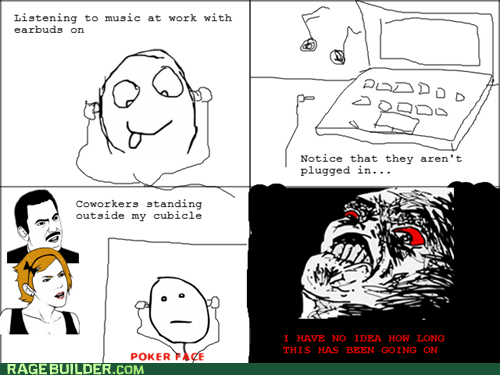Music,poker face,Rage Comics,raisins rage