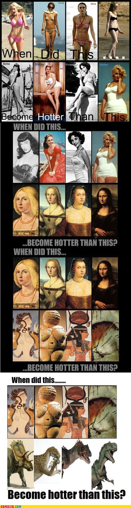 best of week girls meme prehistoric the internets when did this become hotter than this women - 5773941248