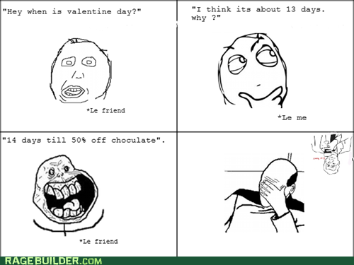 best of week forever alone picard facepalm Rage Comics Valentines day - 5774023680