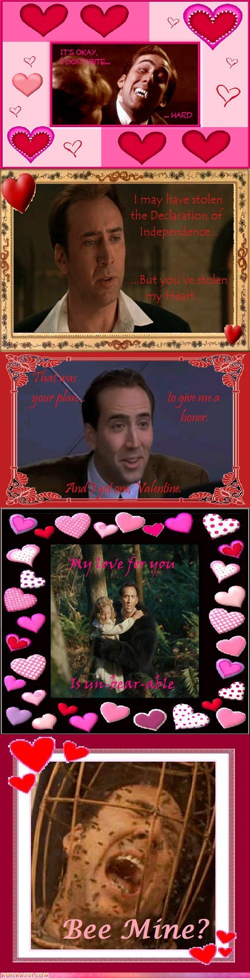 funny holiday nicolas cage shoop Valentines day - 5774093568