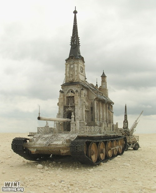 art,church,design,tank,weird