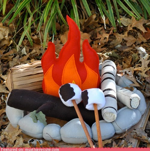 campfire craft fabric fire handmade Plush - 5774125824